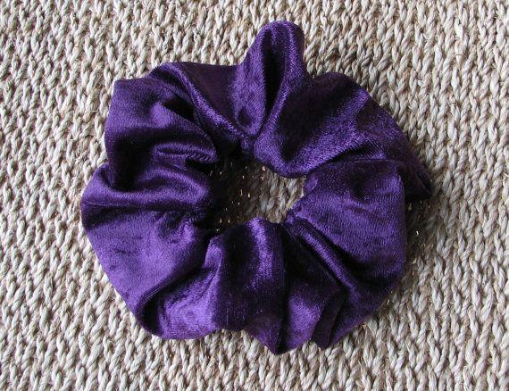 Purple Velvet Hair Scrunchie For Girls and Ladies by MINZZEE, $3.50