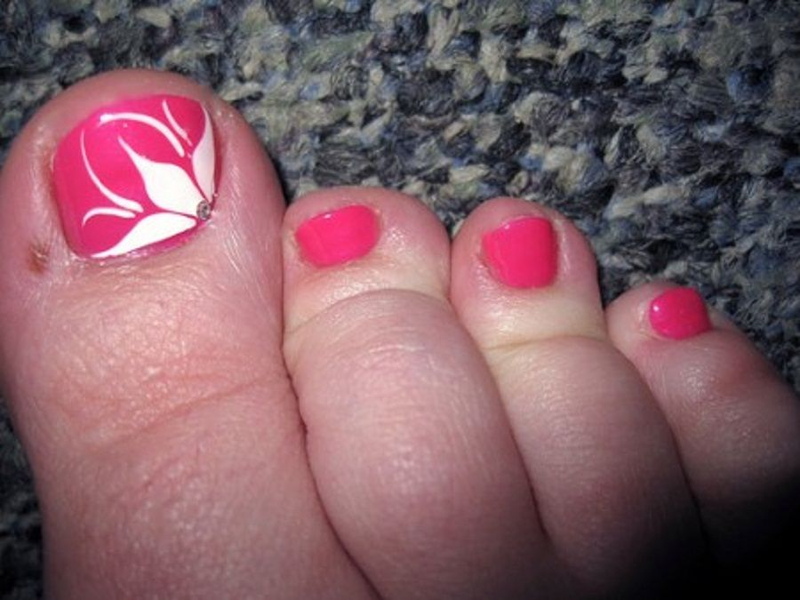 Cute toenail designs with flower nail art designs nail art find and save pink flower pedicure toe nail art design with resolution 500 x 375 pixel and discover more photos image gallery at simple nail design ideas prinsesfo Image collections