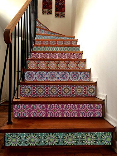 India Decorative Tile Sticker Set 12 Units 6x6 Inches Val Https Www Amazon Com Dp B06wd16kb8 Ref Cm Sw R Pi Dp X India Home Decor Vinyl Tiles India Decor