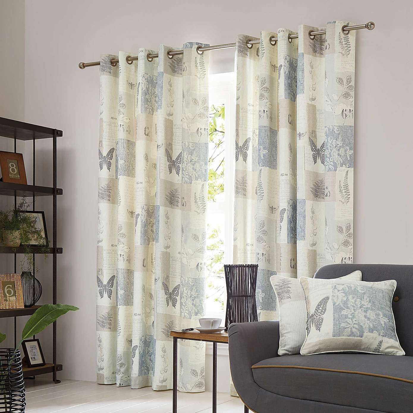 Rustic kitchen window treatments  botanist natural lined eyelet curtains  dunelm  dwd market