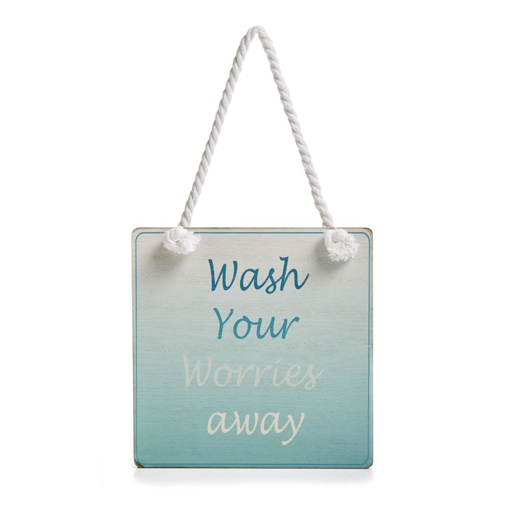 Wilko Wash Your Worries Away Plaque | For the new house ...