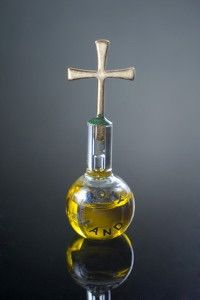 Holy Order-S: The symbols for Holy Orders are oil and the laying on