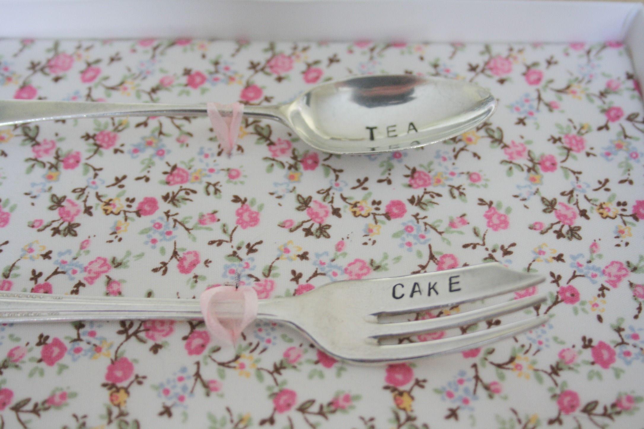 Tea & Cake - vintage cutlery set