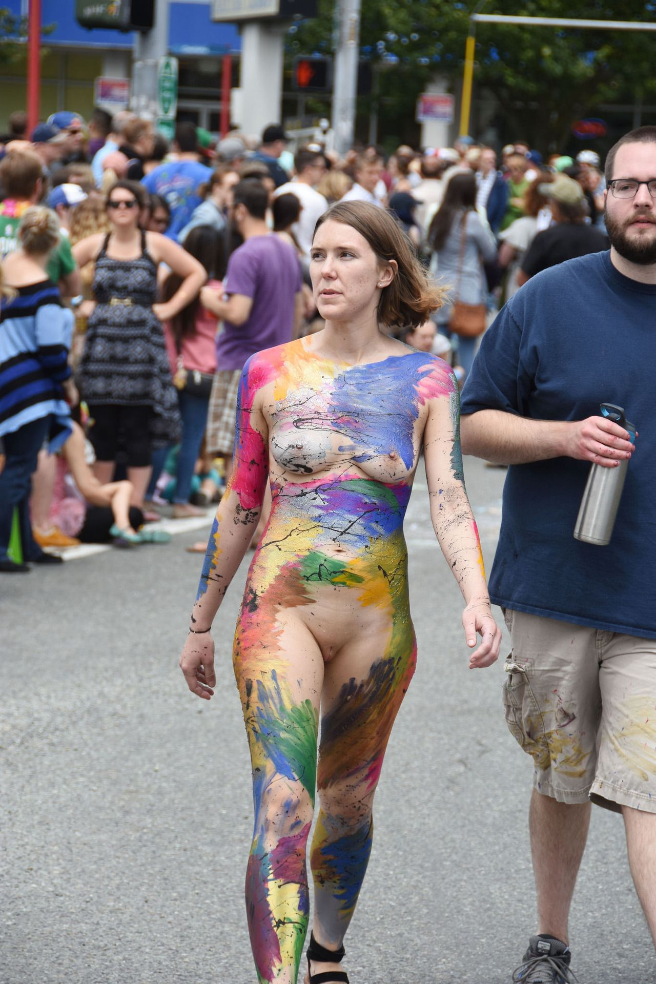 Apologise, naked in public body painting