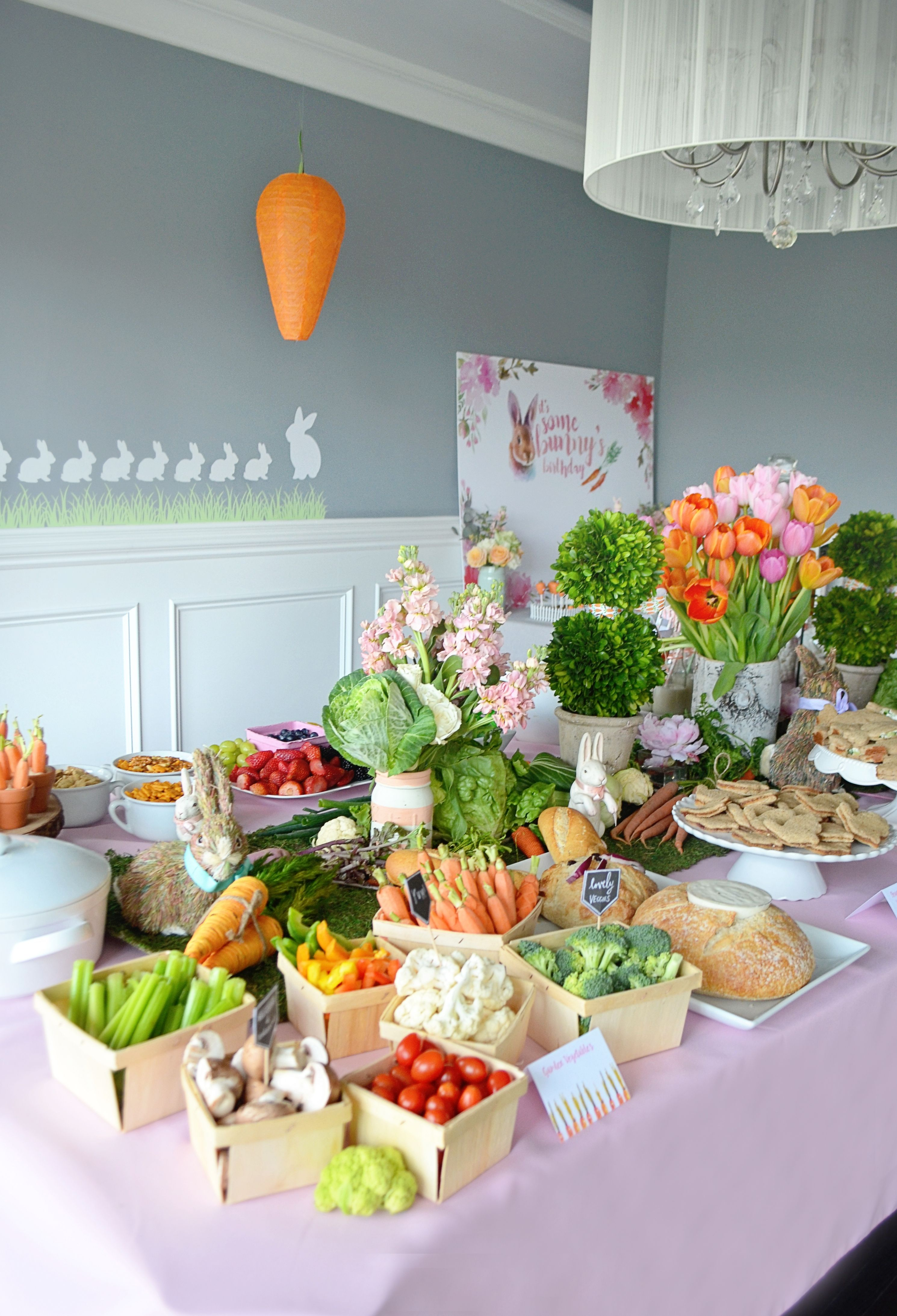 shop the party: bunny-themed party | easter | easter party, birthday