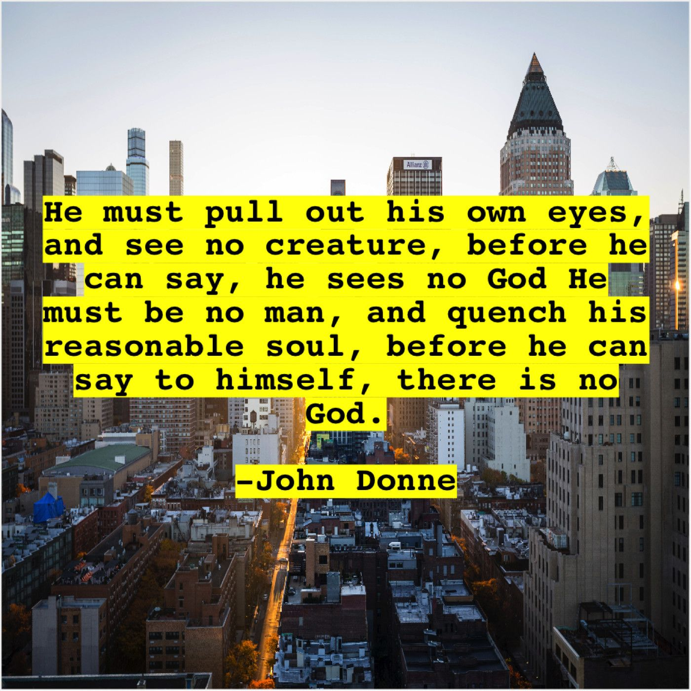 John Donne He Must Pull Out His Tony Campolo Nick Lachey John Donne
