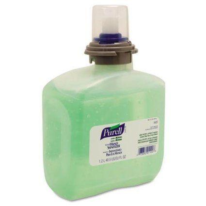 Gojo 545704 Tfx Gel Instant Hand Sanitizer Refill W Aloe 1200 Ml