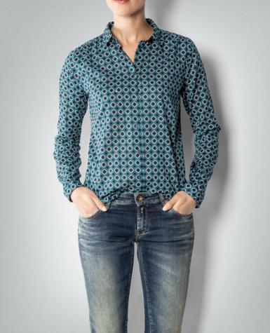 Blusen Marco Polo Bluse Mit Karierte Box Ist Perfekt Mit Jeans Der Gleichen Farbe Sieht Elegant Und Lassig Bluse Elegant Jeans