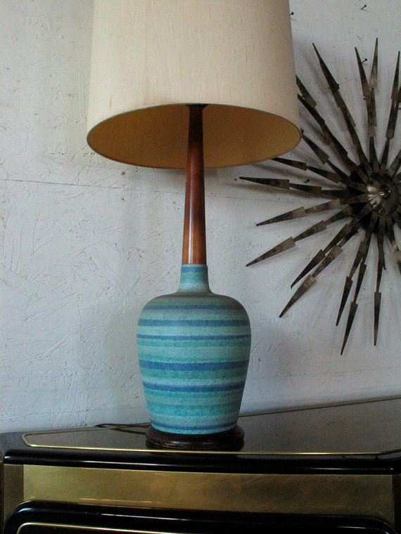 Reserved For Lizzie Danish Modern Teak Pottery Table Lamp Etsy Mid Century Lamp Mid Century Modern Ceramics Mid Century Modern Lamps