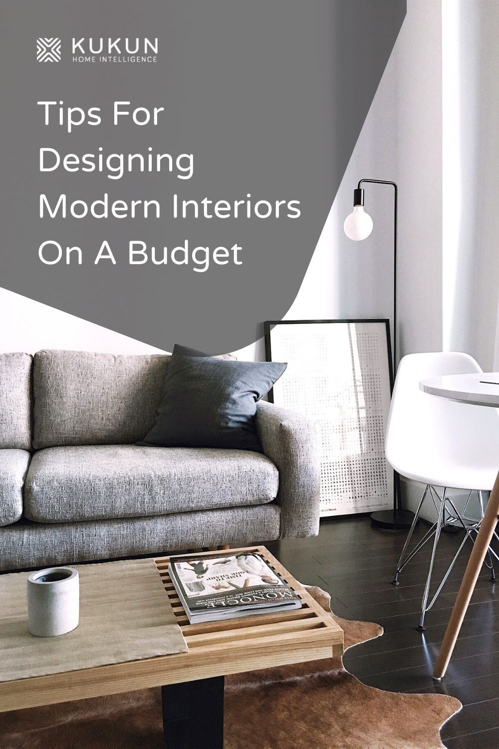 Get the modern interior decor you want without going over budget by following these budget friendly home decor tips. #InteriorDecor #ModernDecor #HomeDecorating