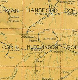 Hutchinson County Texas Ghost Towns Extinct Towns Company