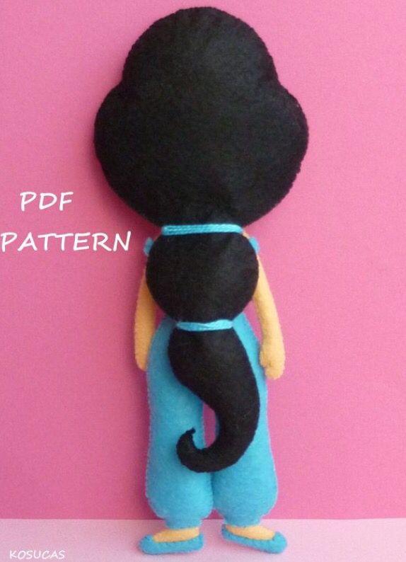 دختر نمدي   Figuras en foami y paño lency   Pinterest   Filz, Disney ...