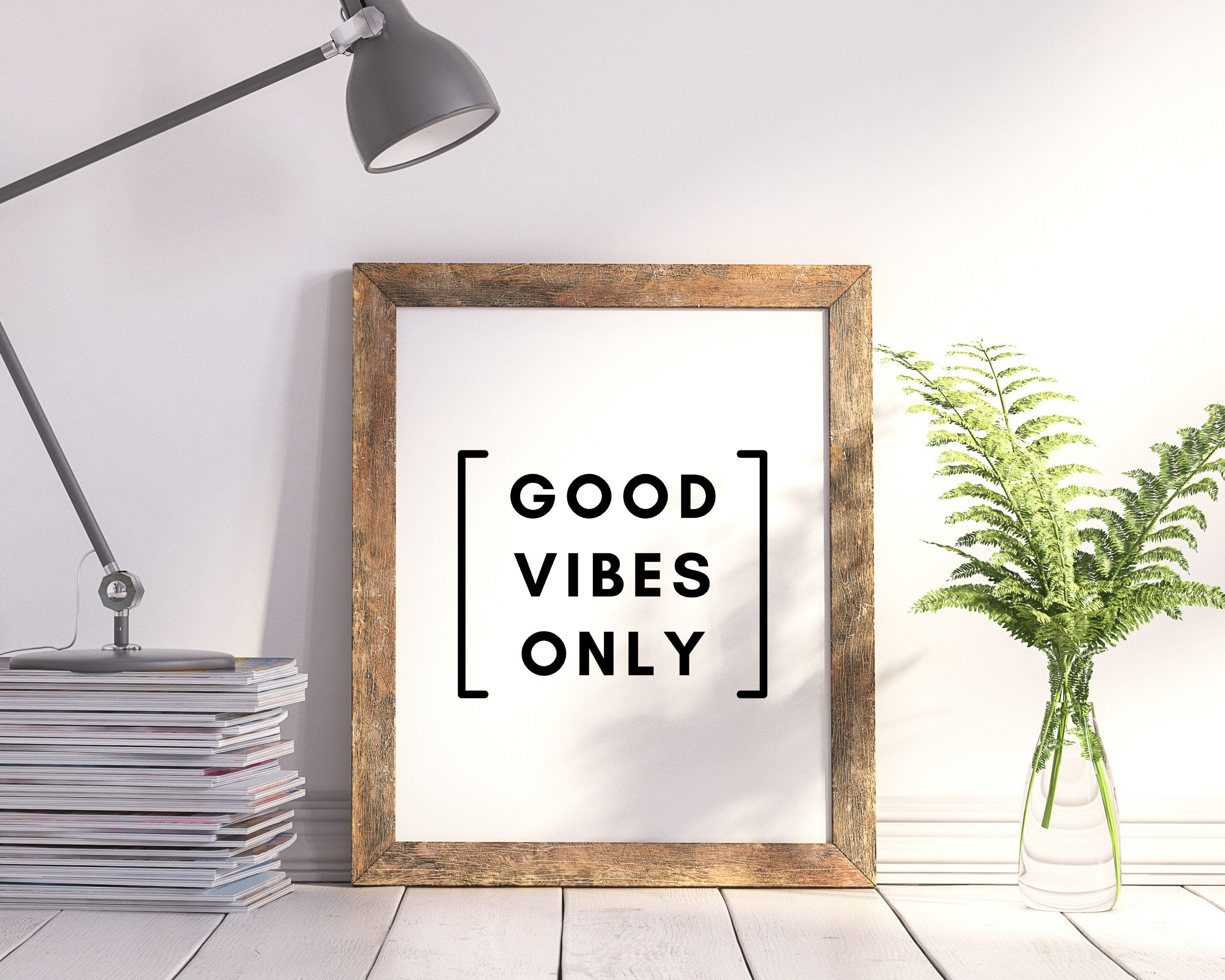 Good Vibes Only Quote Typography Print Positive Quote Happy   Etsy