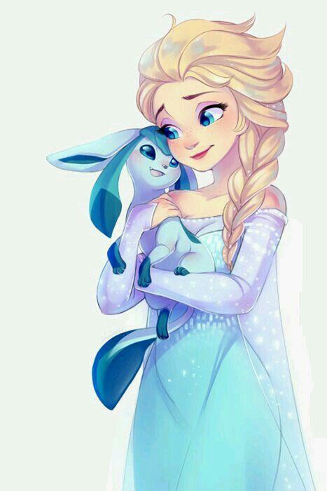 Elsa Und Glasion How Kawaii But Now I Am Confused Where To Put This Well Whatever Disney Prinzessinnen Bilder Disney Zeichnungen Pokemon Bilder