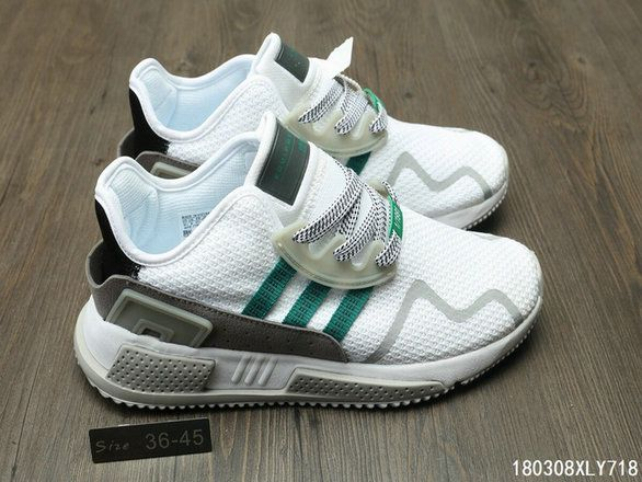 ddf859892f99 Adidas EQT Cushion ADV New Arrival s Green White Shoe