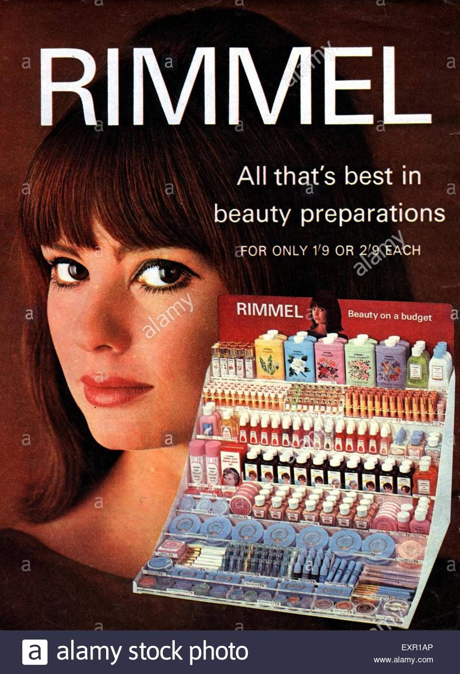 Download this stock image 1960s UK Rimmel Magazine Advert