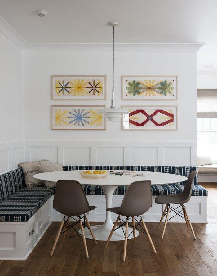 wohnküche essecke mit ecksofa und rundem tisch Küche Möbel - essecken für küchen