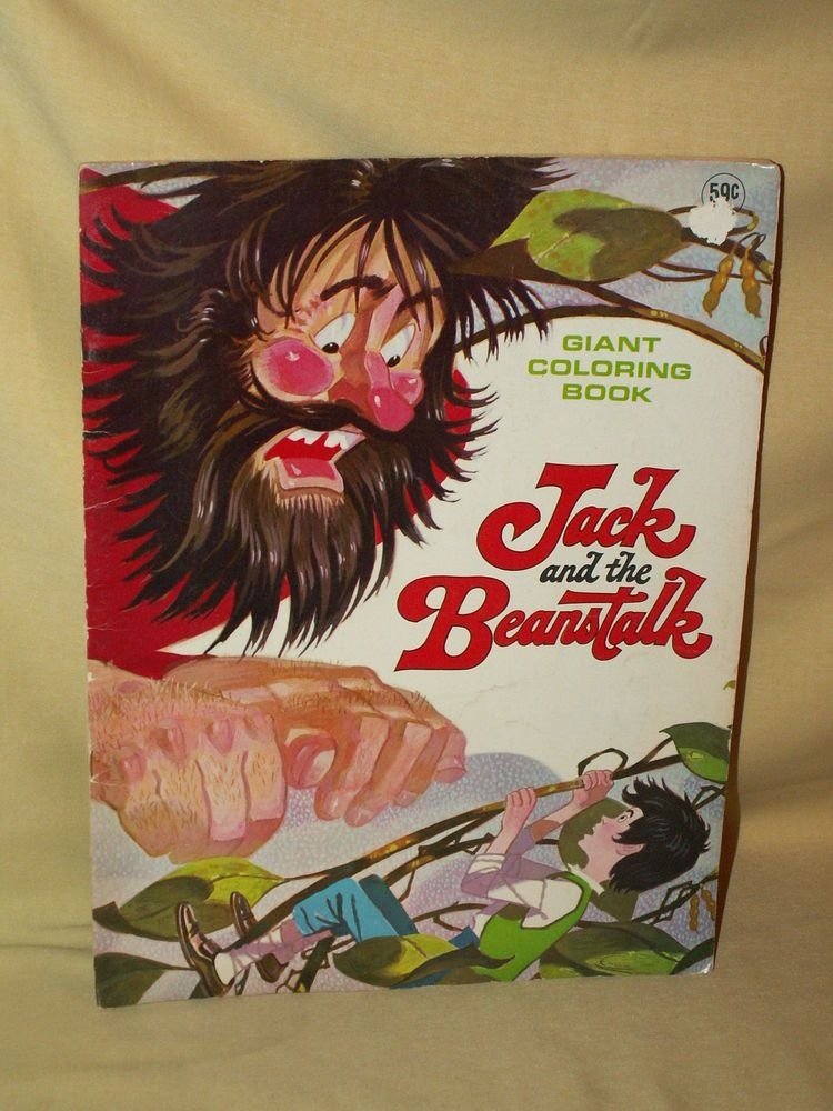 Jack And The Beanstalk Coloring Book Giant Playmore Pub Vintage Dot