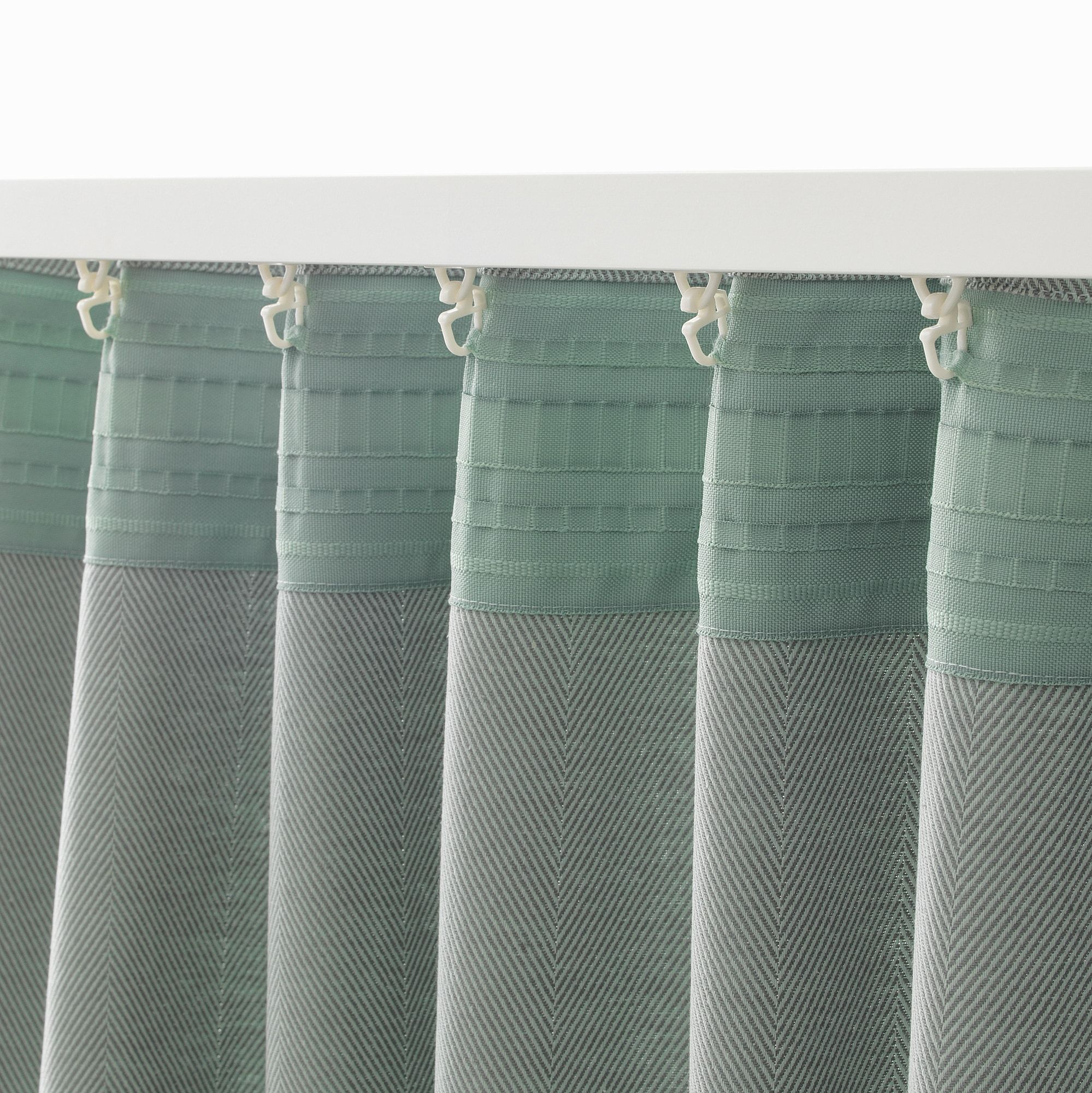 Scheibengardinen Meterware Baumwolle Ikea Tibast Curtains 1 Pair Green Dekoration In 2019