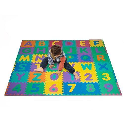 Foam Floor Alphabet Number 36 Pc Puzzle Mat S A