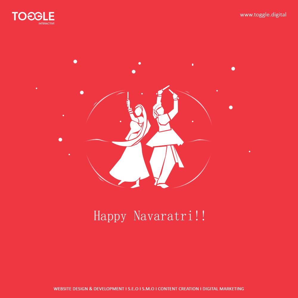 Navratri Banner Background Red