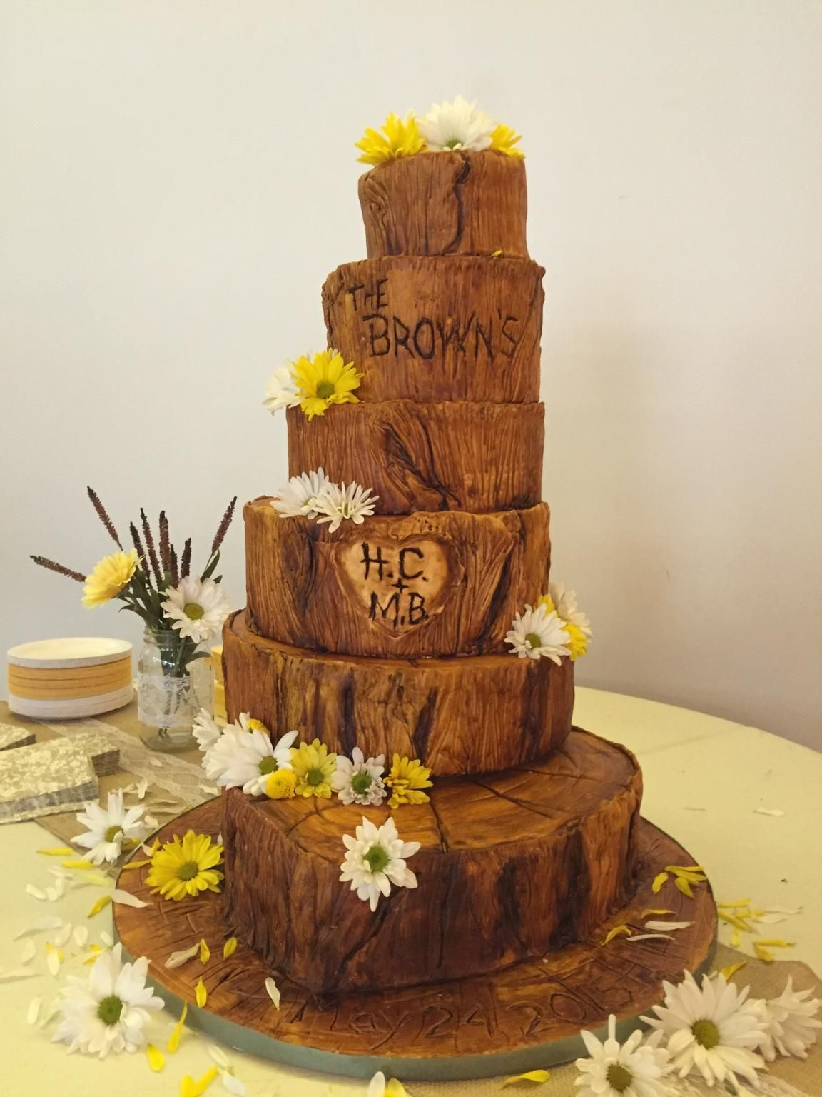Tree Bark wedding cake | Torten | Pinterest | Tree bark, Barking ...
