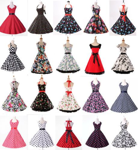ad175ffb03c Robe Pinup Vintage pin up années 50 s 60s Swing Robes de bal Cocktai ...
