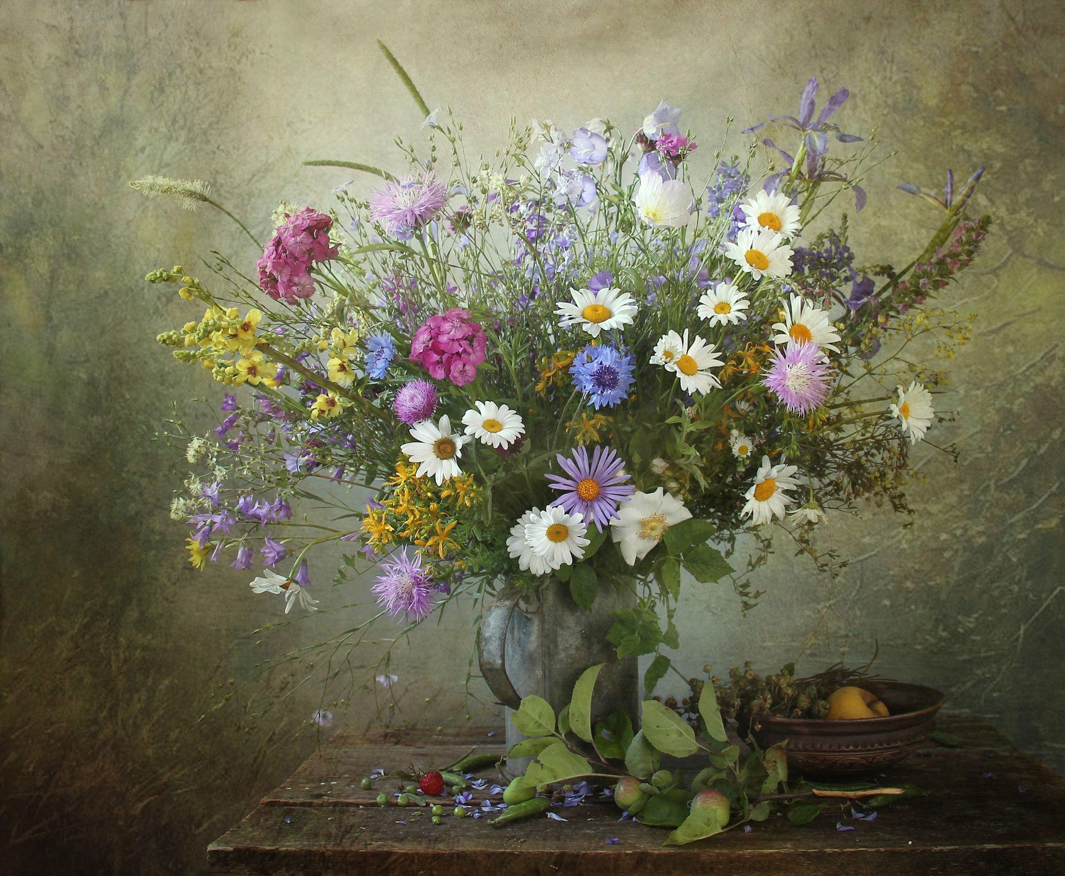 светловолосый картинки натюрморты с полевыми цветами местах, где