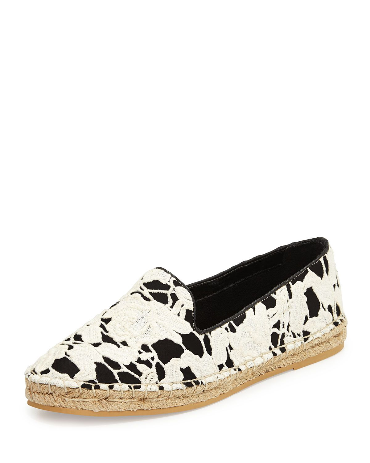 Womens Shoes Cole Haan Palermo Espadrille Black/White Lace