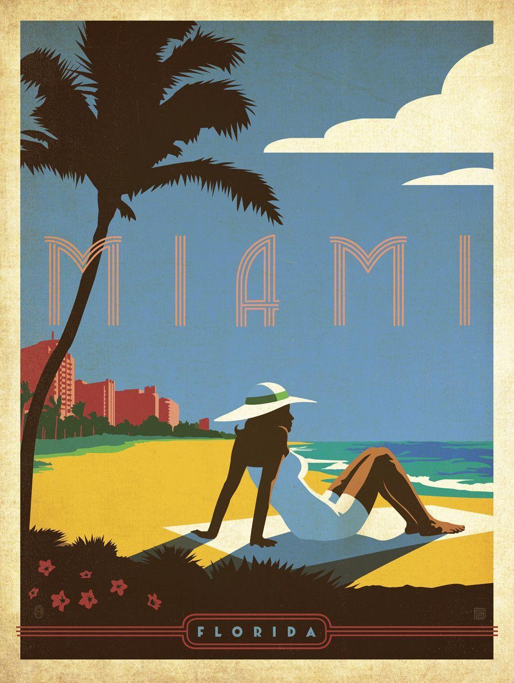 Prestigeartstudios Retro Miami Vintage Adver