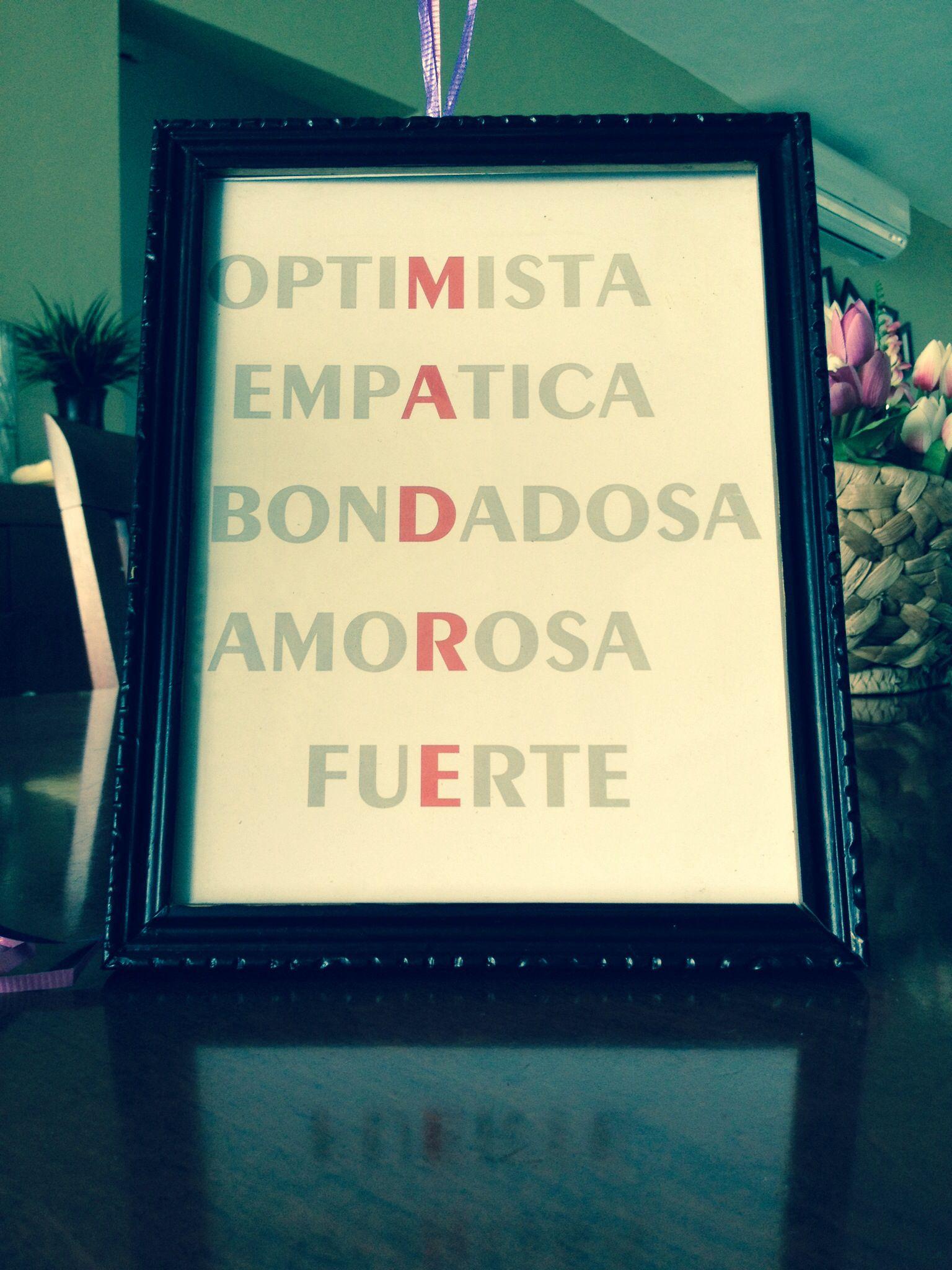 Día de las madres/ mother\'s day ☺ #manualidades #acróstico #diy ...
