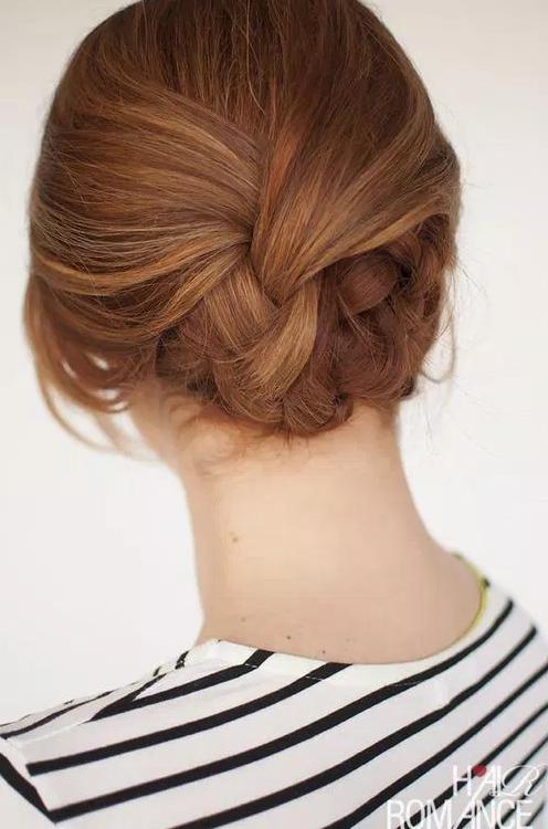 Einfache Plaited Updo Frisur