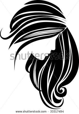 stock vector Hair icon Hair clipart, Hair vector, Hair