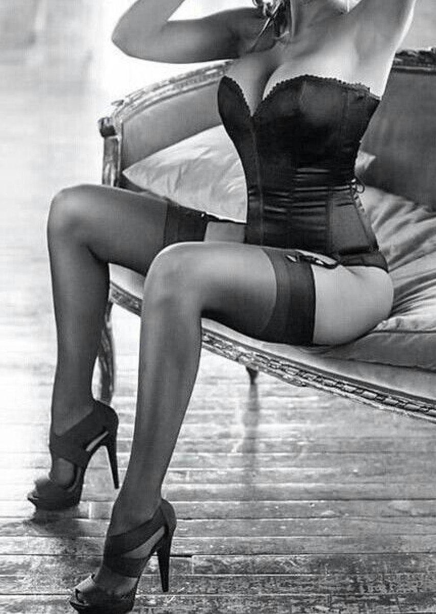 stockings white Black and boudoir