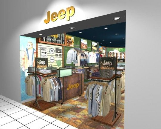 Jeep Clothing Store With Images Retail Store Interior Design Store Design Interior Retail Interior Design