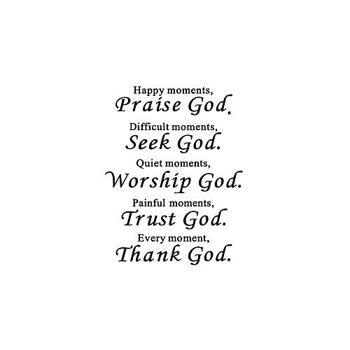 Thank God Thanksgiving God A Generation Of Carved English Proverbs Home Background Decoration Removable Stickers 6045CM