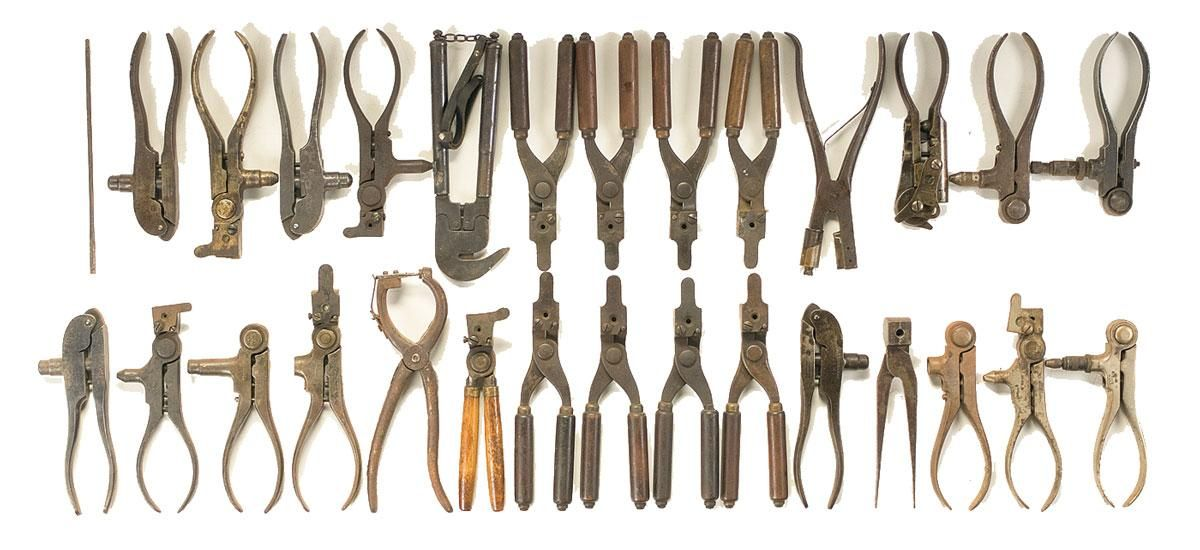 Assortment of Reloading Tools and Bullet Molds | Antique and