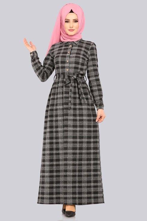 Modaselvim Elbise Kemerli Kislik Elbise Kprs1162 Siyah The Dress Kusakli Elbise Kadin Kiyafetleri