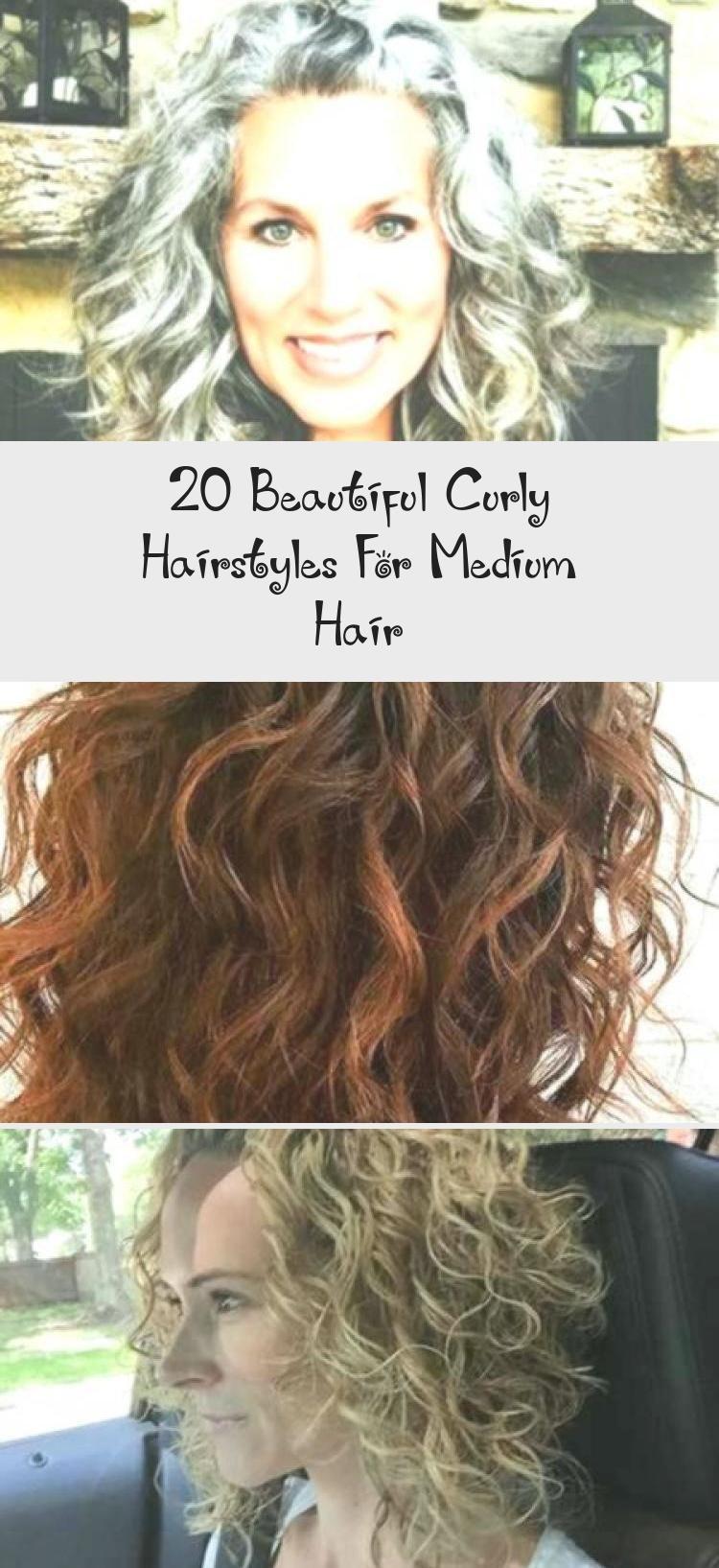 20 schöne lockige Frisuren für mittleres Haar, #schön #locken #Frisuren #me …