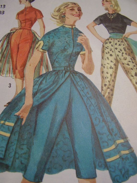 Vintage 1950 S 60 S Simplicity 1812 Pants Blouse And