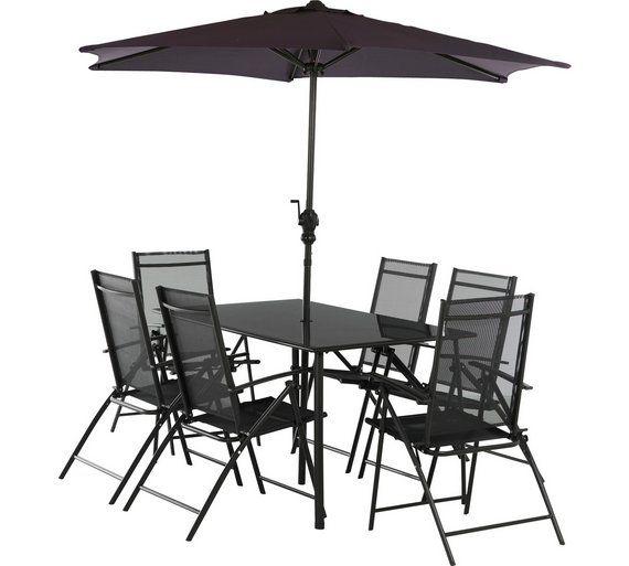 buy home milan 6 seater patio set at argoscouk visit argos
