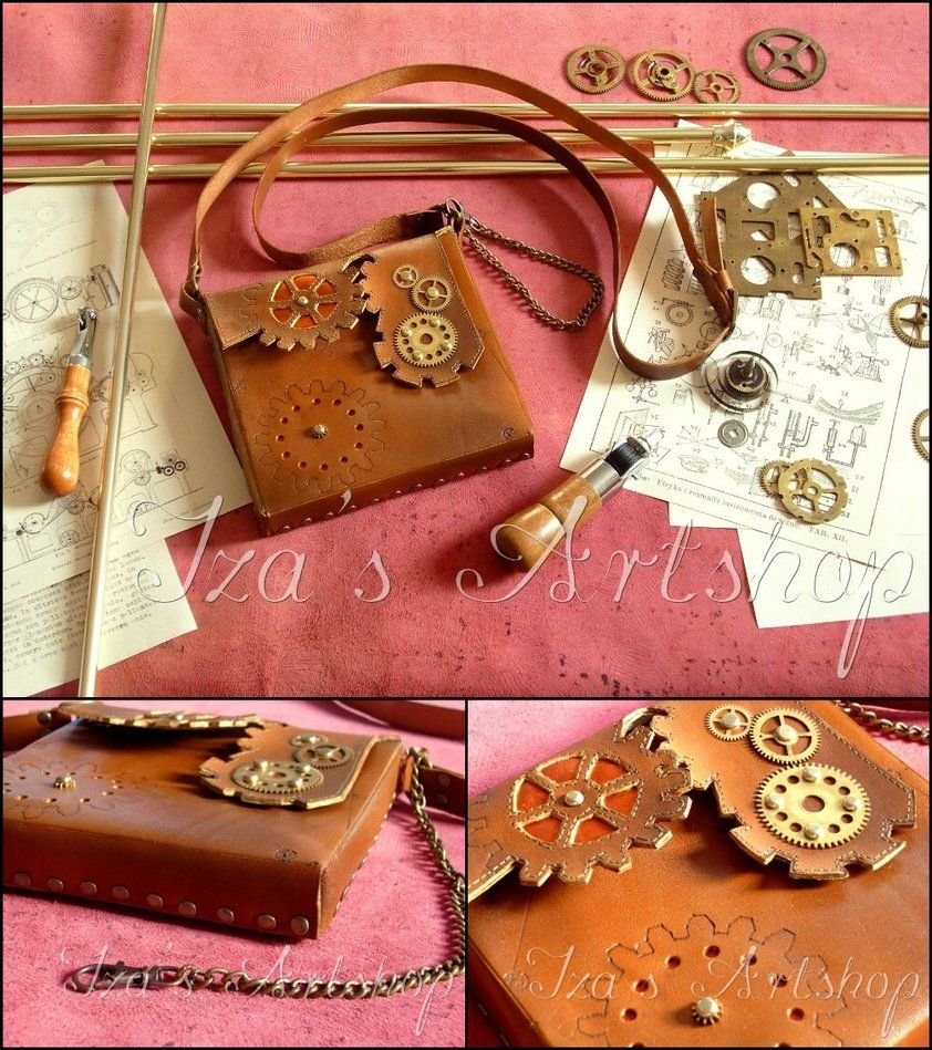 Steampunk Leather Pouch VIII