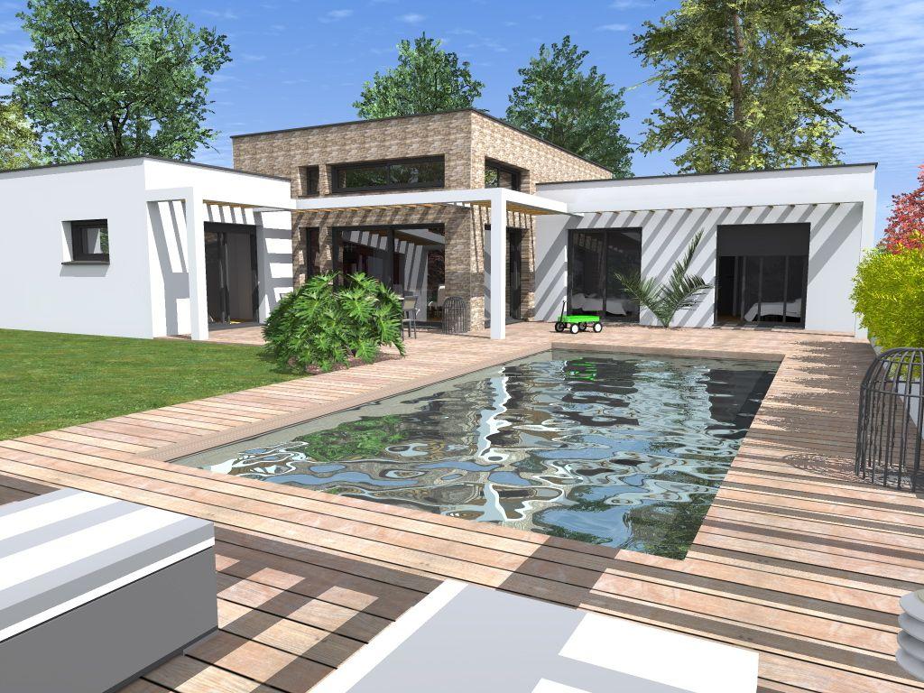 Maison toit plat interieur maison pinterest - Petite maison toit plat ...