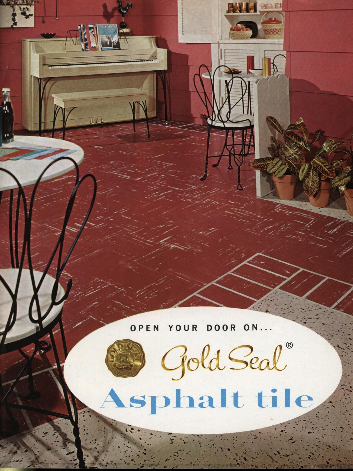 Open your door on asphalt tile congoleum nairn inc - Become an interior designer online ...