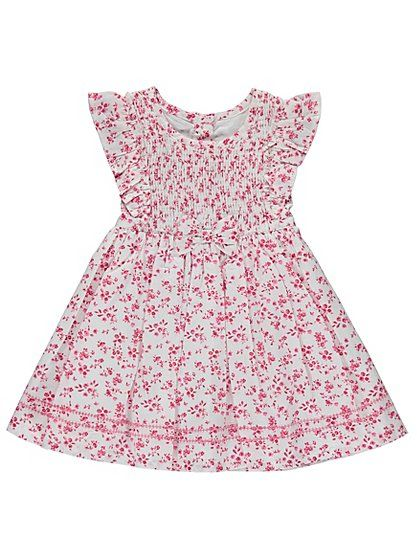 Floral Pleated Dress | George Baby Clothing | Pinterest
