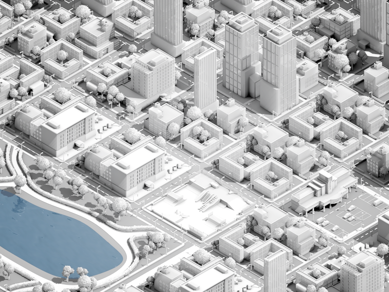 Huge 3d city infographic. Unfortunately it was rejected by client … so it's WIP.  Bigger screens attached  Hope you guys like it anyway.