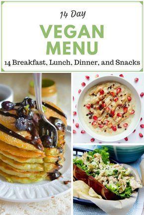 2 week vegan menu vegan menu breakfast lunch dinner and snacks ideas forumfinder Gallery