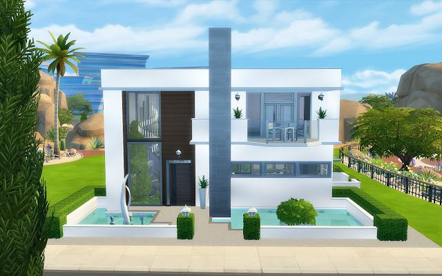 Modern House - The Sims 4 - Download | sims | Pinterest | Sims and ...
