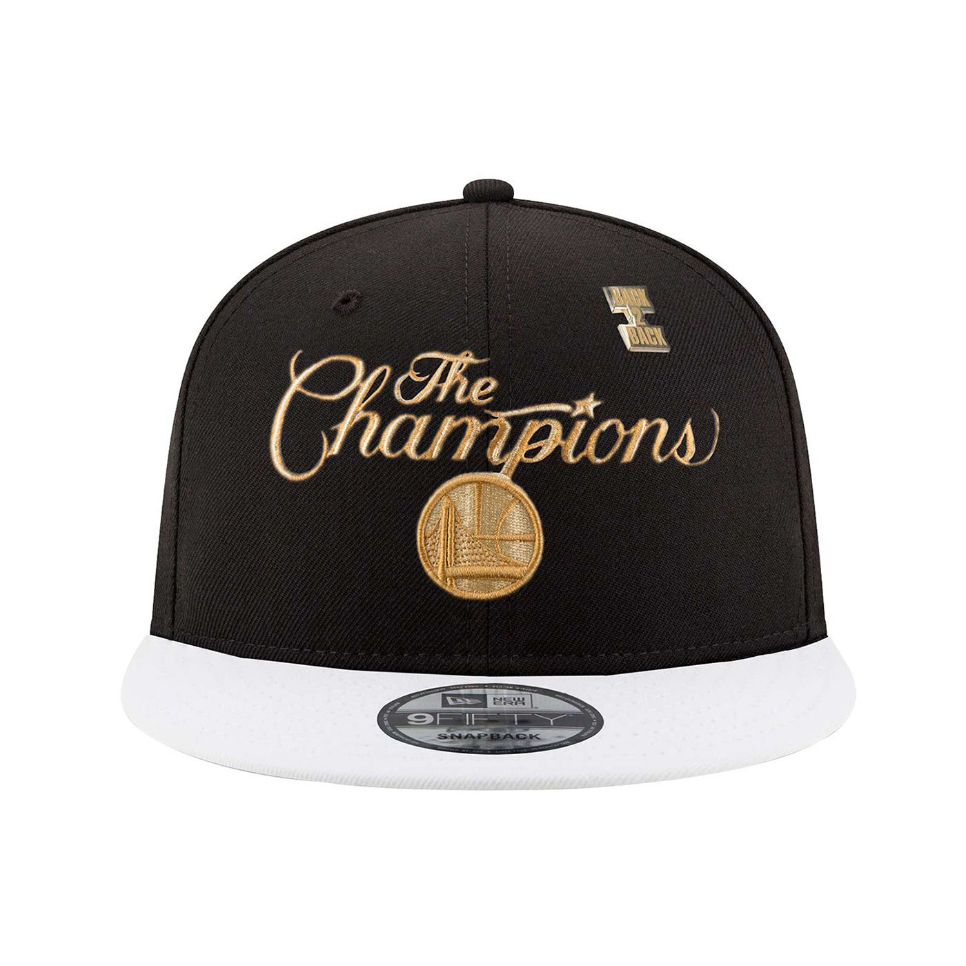 42a3644c Golden State Warriors New Era 9FIFTY Back to Back Champions Trophy Ring  Banner Snapback Cap - Black - Golden State Warriors - Official Online Store