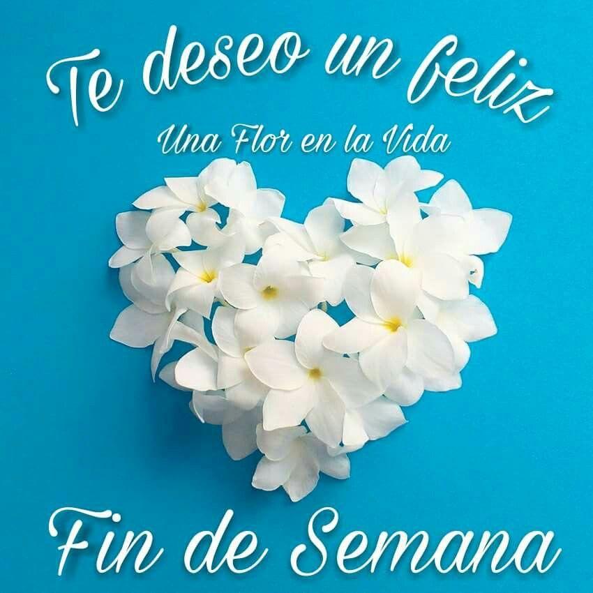 Un Feliz Fin De Semana Buenos Dias Con Flores Frases Fin De